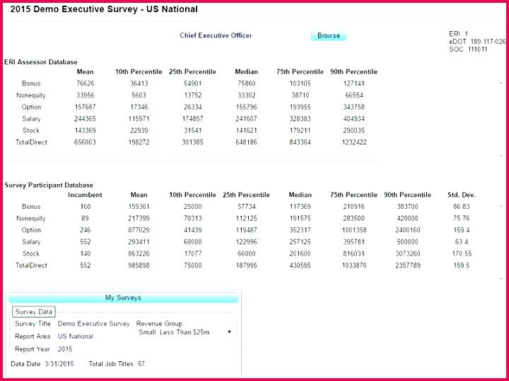 salary analysis pensation summary template sample