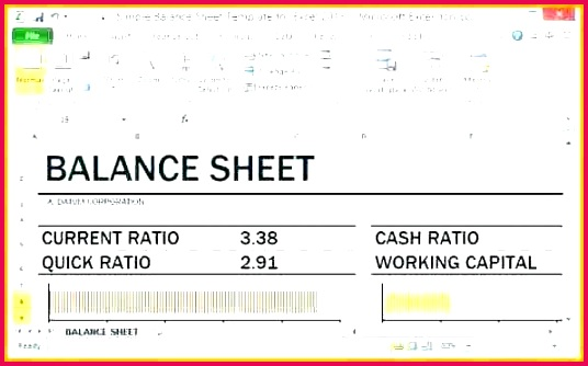 balance sheet in e statement template personal and free cashier for excel