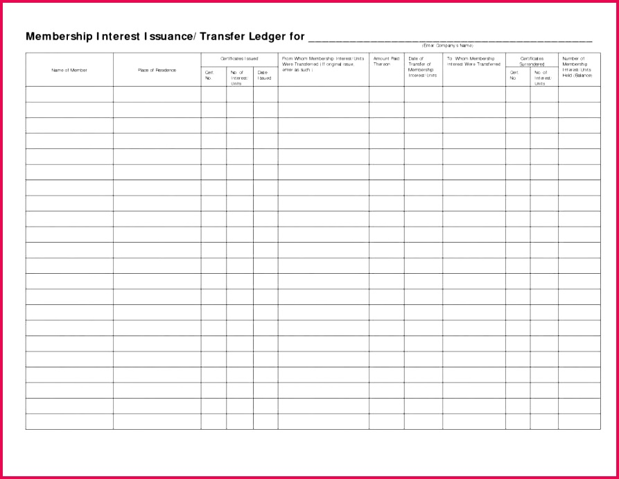 stock ledger excel