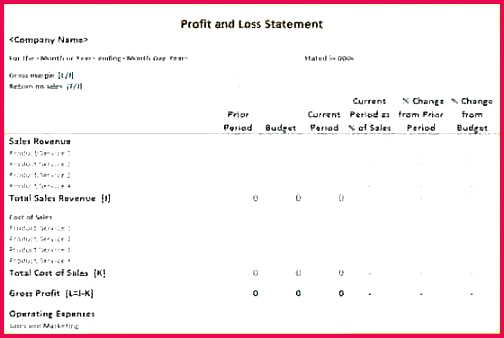Statement Templatee Download Profit Profit and Loss Template Excel Inspirational 27 Beautiful Simple Profit and Loss Excel Template