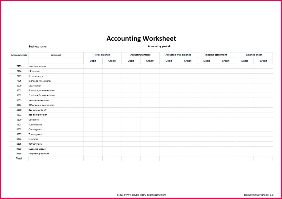 bookkeeping spreadsheet template free