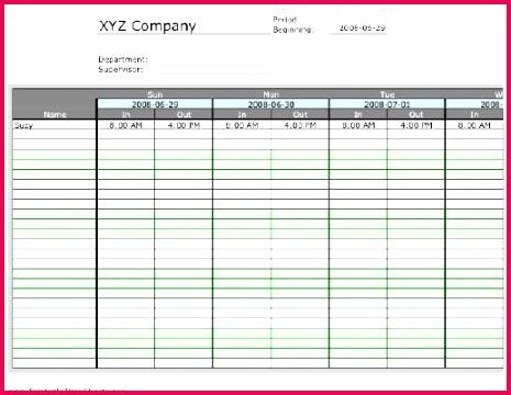6 Timesheet Excel Download 54856 | FabTemplatez