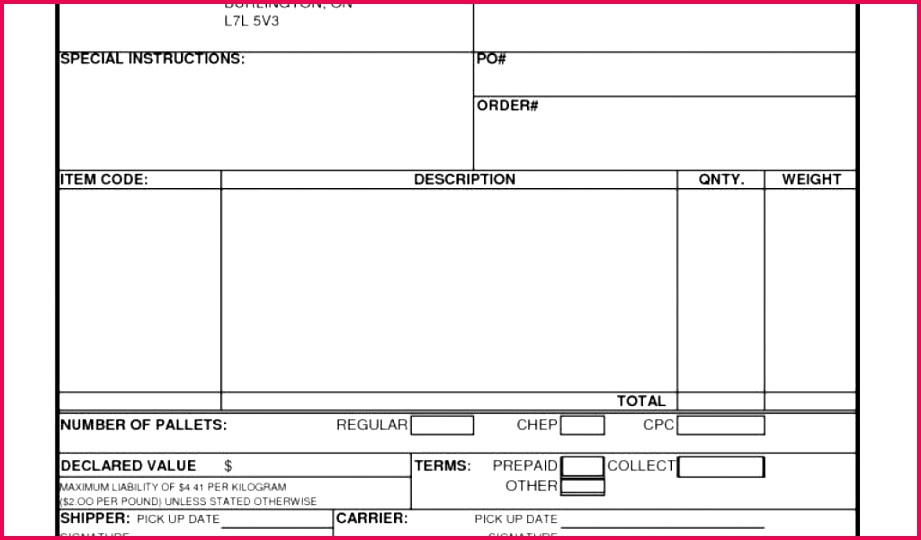 Substance Abuse Worksheets Auto Transport Invoice Template and 27 Freight Bill Template