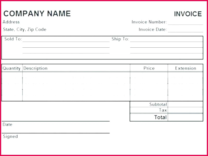 freight invoice template
