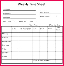 Free Printable Weekly Timesheet Template Search Results