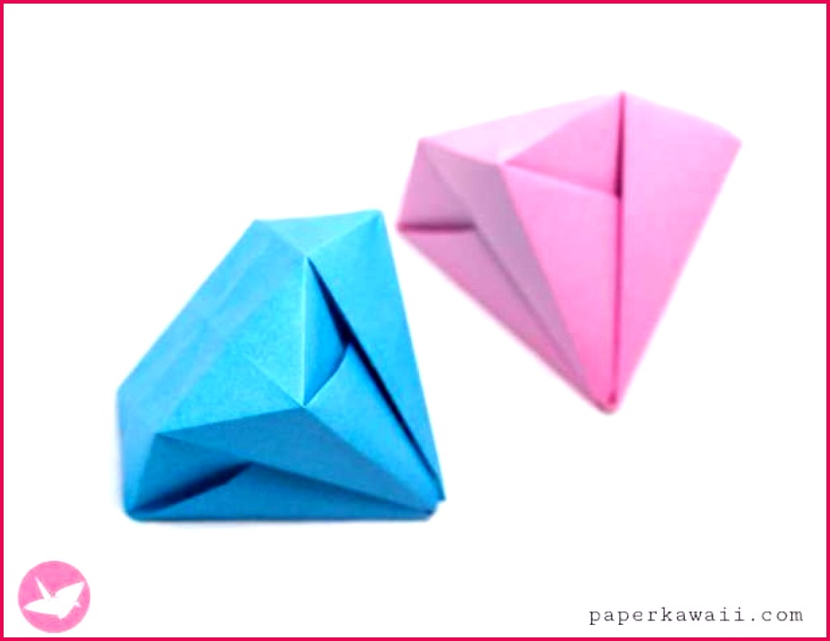 009 Template Ideas Awesome Origami Diamond Interesting Random Pinterest In Paper Art Templates Amazing And Easy