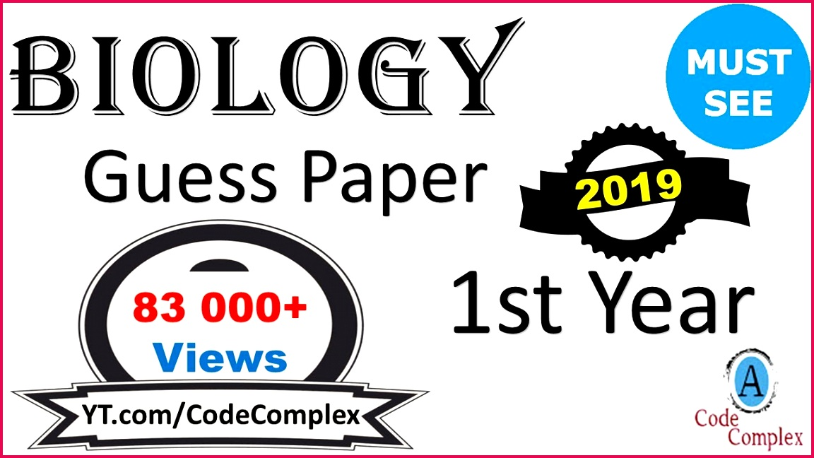 Guess Paper Biology 2018 1st year guess paper 2018 1st year Biology Guess Paper 2018