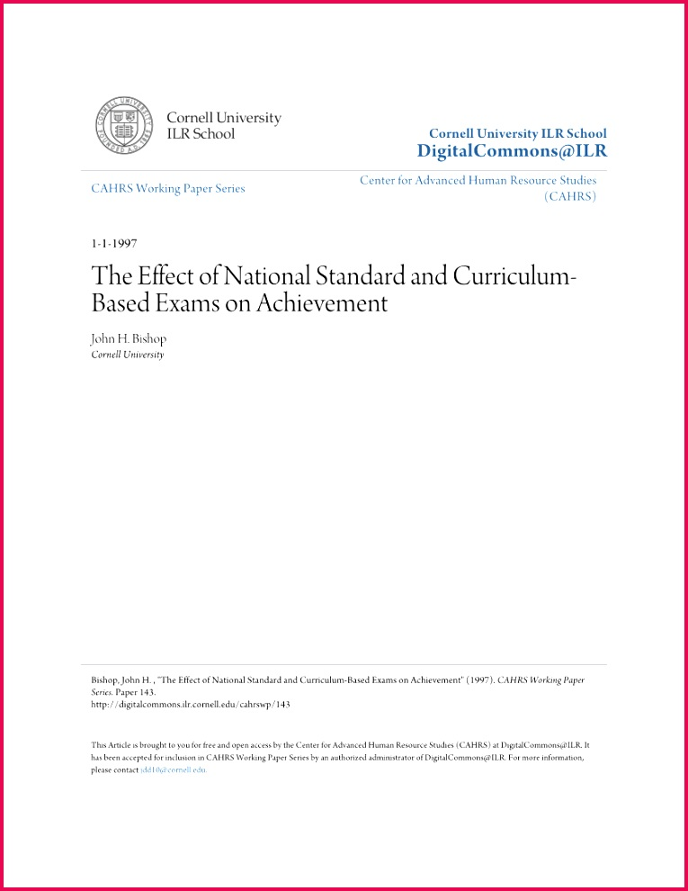 PDF Public Examination at Higher Secondary and its Impact on STEM Education