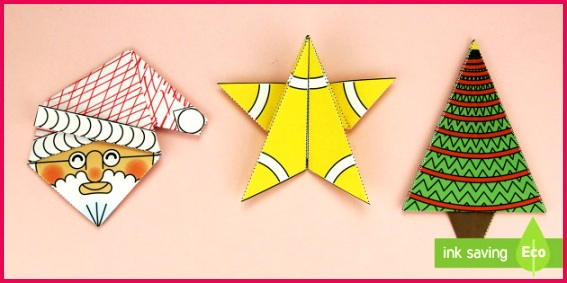Simple 3D Christmas Origami Pack Paper Craft