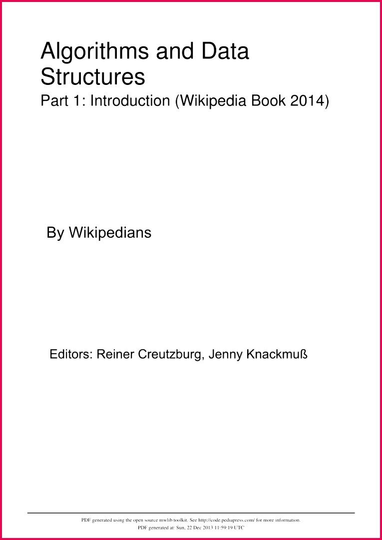 PDF Lecture Notes Algorithms and Data Structures Part 1 Introduction