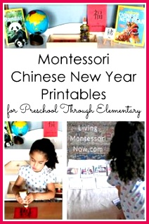 Montessori Chinese New Year Printables for Preschool Through Elementary