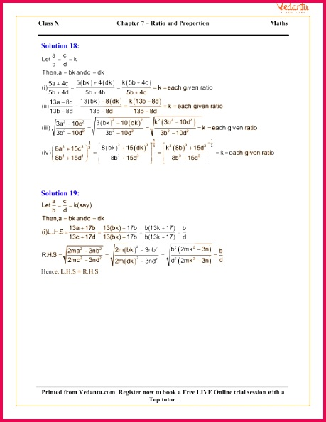 Ratio and Proportion Including Properties and Uses Solutions for ICSE Board Class 10 Mathematics Concise Selina Publishers