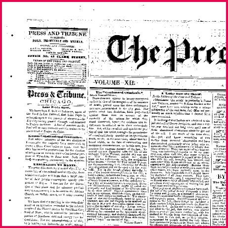 The press and tribune Chicago Ill 1859 1860 April 23 1859 Image 1 Chronicling America Library of Congress