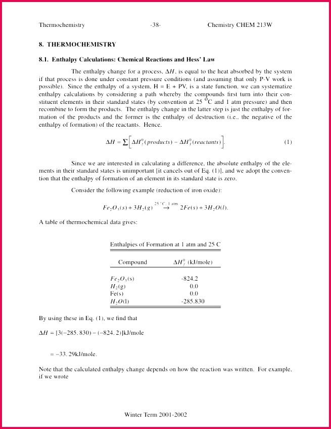 Thermochemistry 38 Chemistry