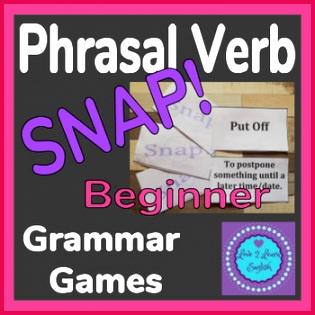 Phrasal Verb SNAP Game Beginners A2