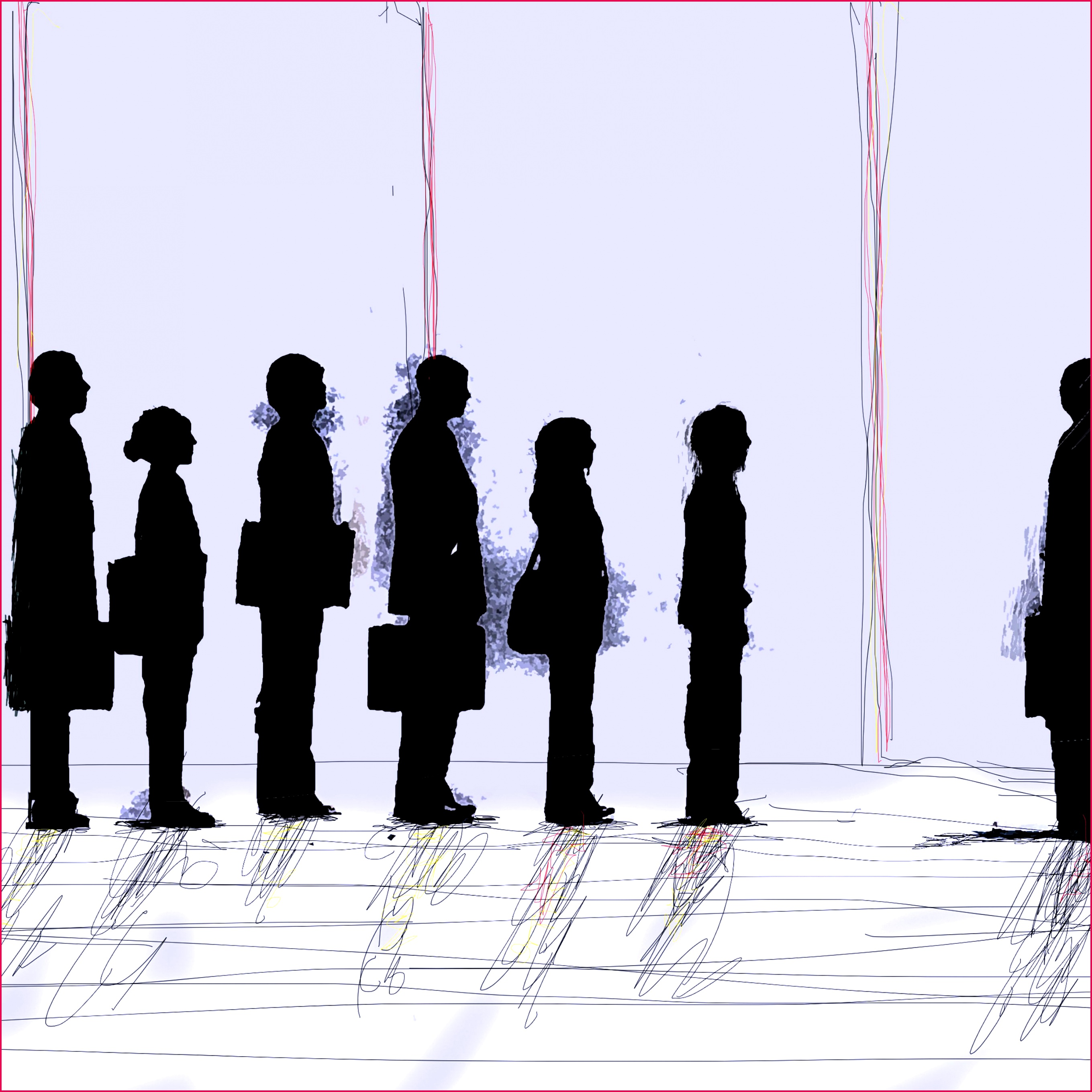 business people standing in interview queue 5af4a d1cf e0c7c