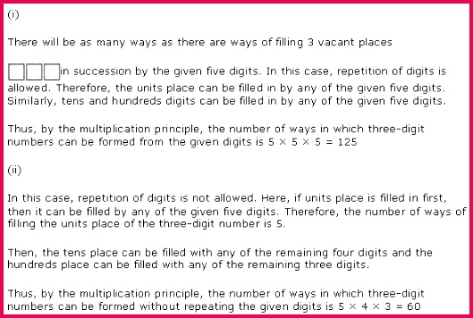 NCERT Solution for Class 11 Science Mathematics Chapter 7 Permutations and binations Page Excercise 7 1