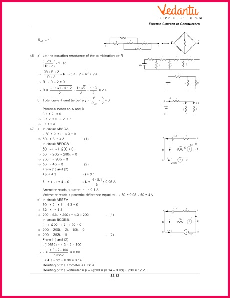 HC Verma Class 12 Physics Part 2 Solutions for Chapter 32 Electric Current in Conductors