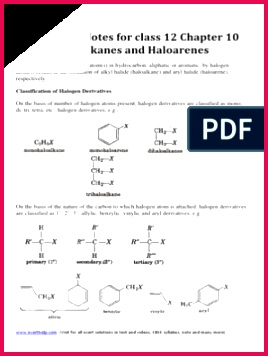 Chemistry Notes for Class 12 Chapter 10 Haloalkanes and Haloarenes Chemical Reactions
