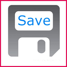 The process of writing data to a storage medium such as a floppy disk CD R USB flash drive or hard drive The Save option is found in almost all