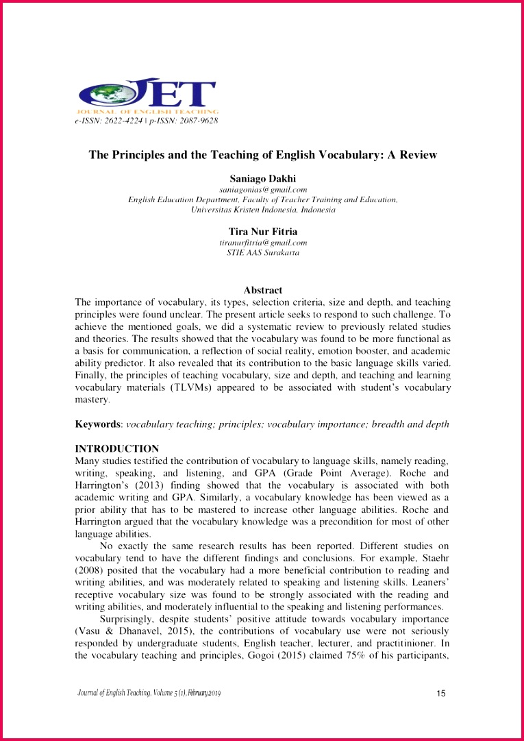 PDF The Effects of Vocabulary Breadth and Depth on English Reading