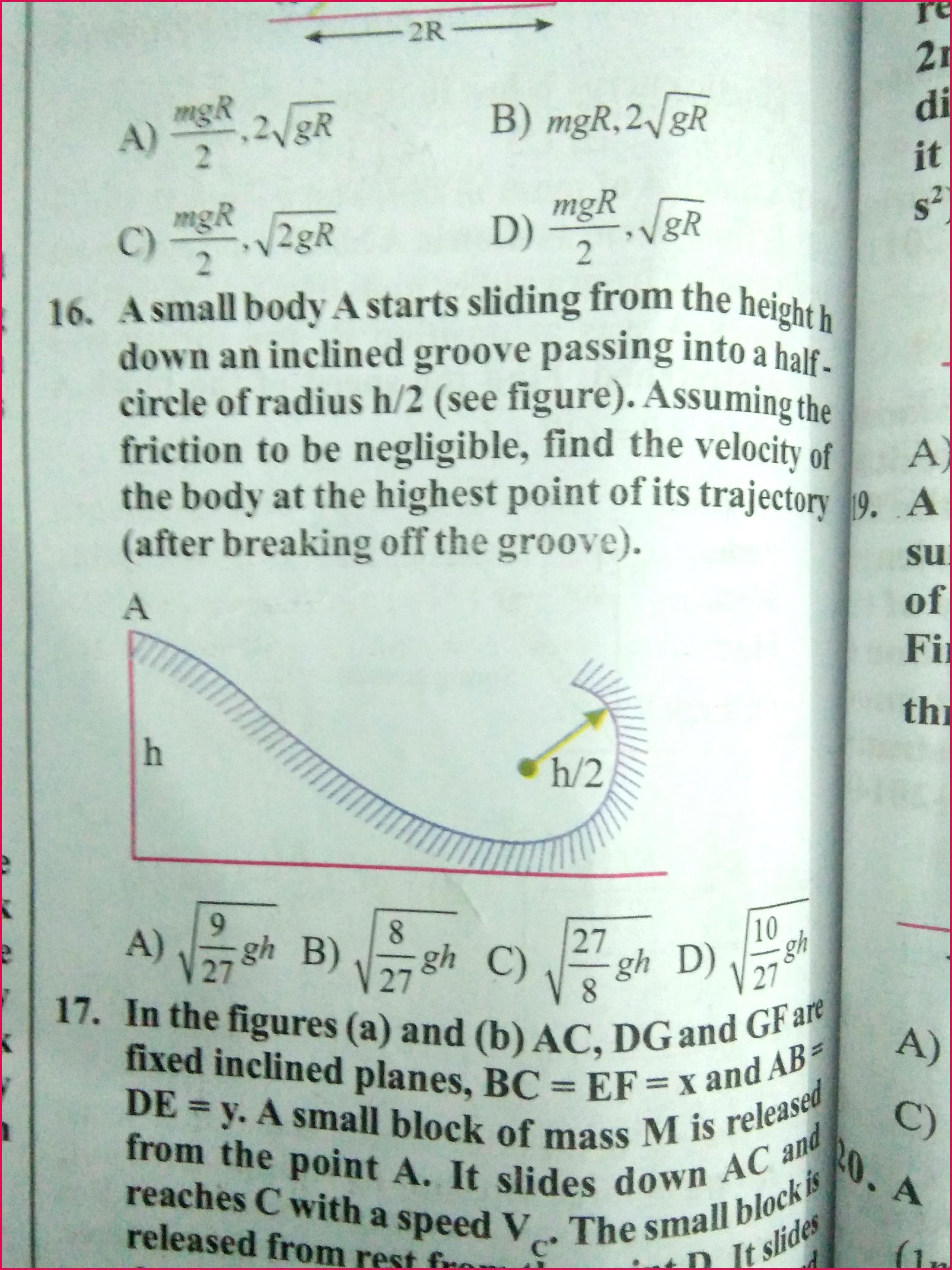 Plz solve the ques no 16
