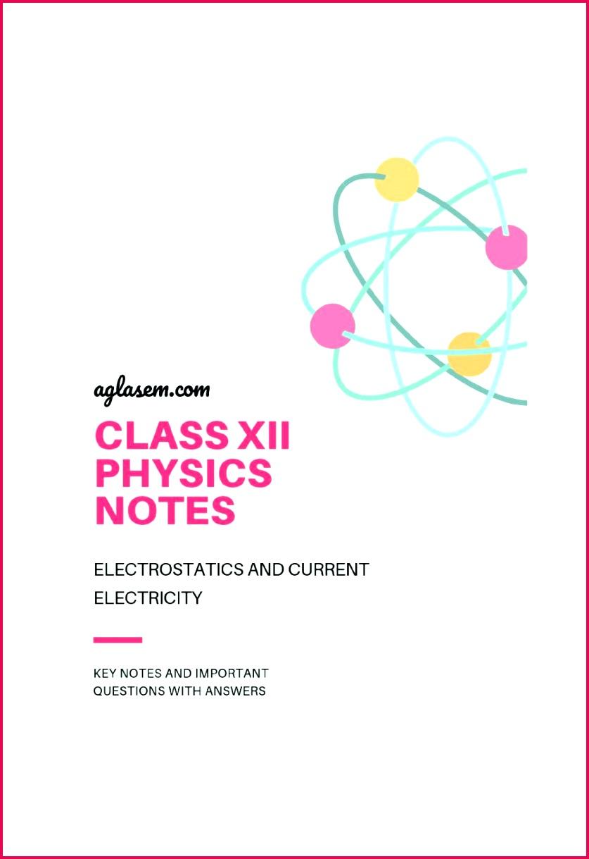 Class 12 Physics Notes Electronics Exercise 18170 | FabTemplatez