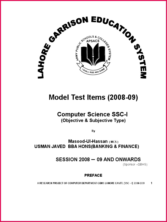 Ssc i puter Science NOTES by Usman Javed Integrated Circuit