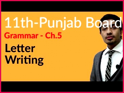 11th Class English Portion Grammar How to Write Letter Federal Board first year English