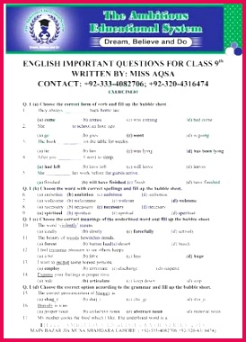 """ENGLISH SOLVED MCQ""""s CLASS 9TH BATTLE OF BRAIN"""