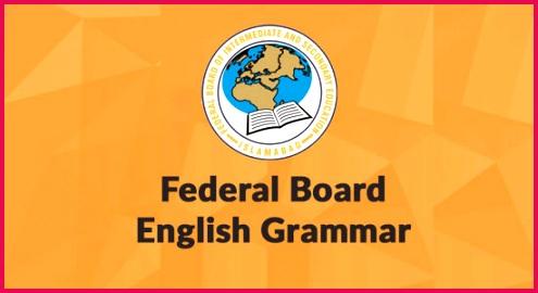 Federal Board Grammar