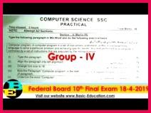 Practical Paper puter Science Federal Board of Intermediate & Seconda