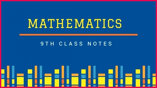 9th Class Math Notes with Solutions For Federal Board PDF