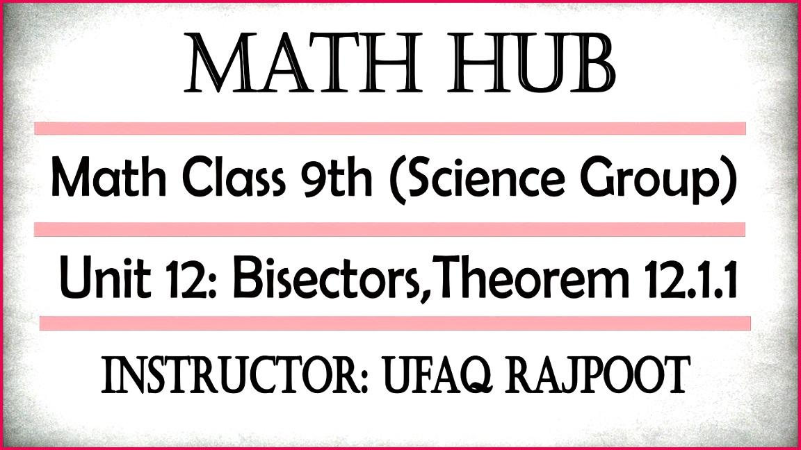 Math Class 9th Ch 12 Theorem 12 1 1 Vp