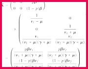 Remember that for a 2 — 2 matrix the dominant eigenvalue and hence ℛ0 can be obtained from the trace and the determinant of the matrix as