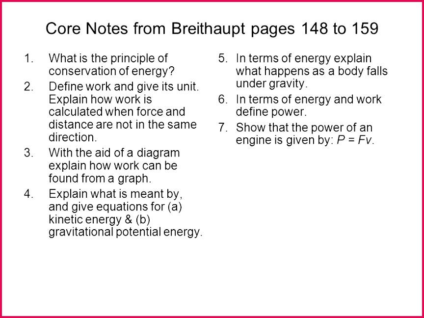 Class 9 Notes Physics Work Energy Notes 19868 | FabTemplatez