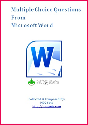 Download MS Word MCQ Bank in PDF format Bank Jobs Question And Answer This