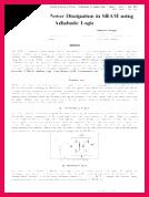 Reduction of Power Dissipation in SRAM using Adiabatic Logic
