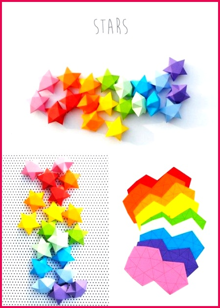 DIY Cut and Fold Lucky Paper Stars Tutorial and Template from minieco here