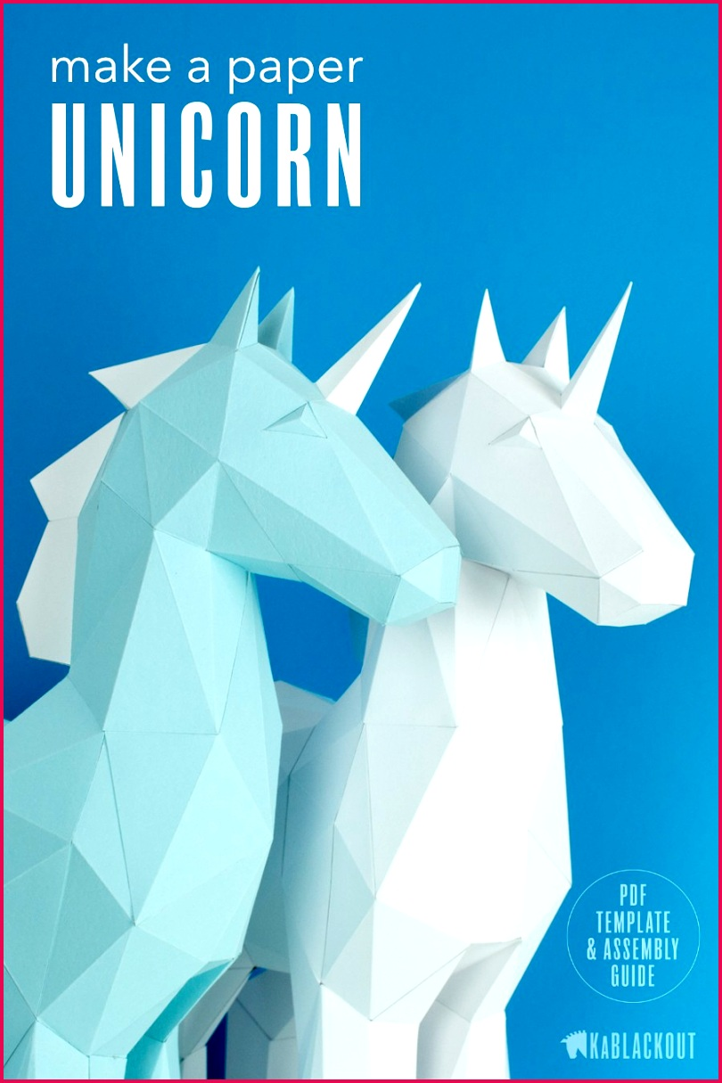 Star Fox Papercraft Papercraft Unicorn Template Diy Unicorn Papercraft Low Poly