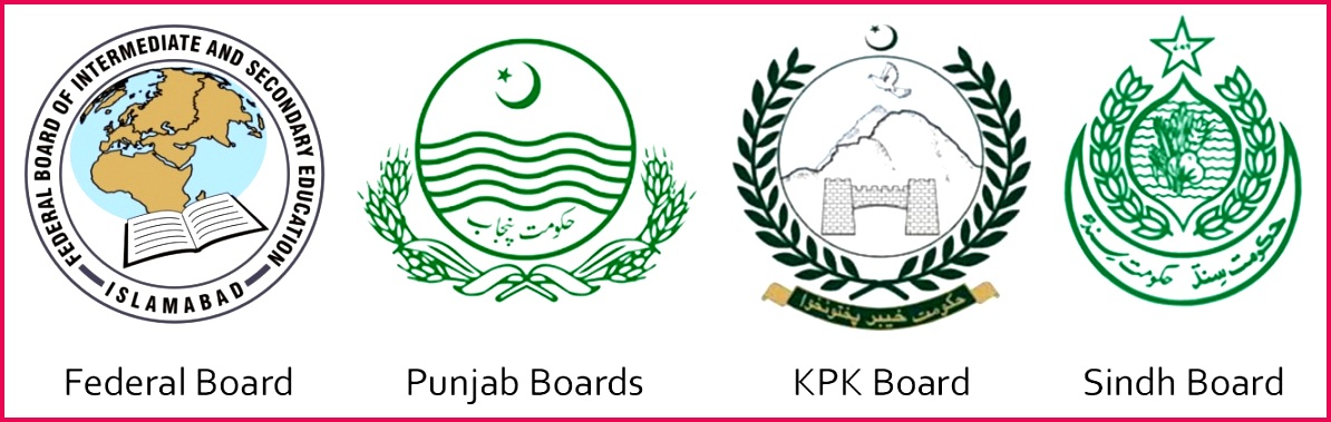 All Educational Boards of Pakistan