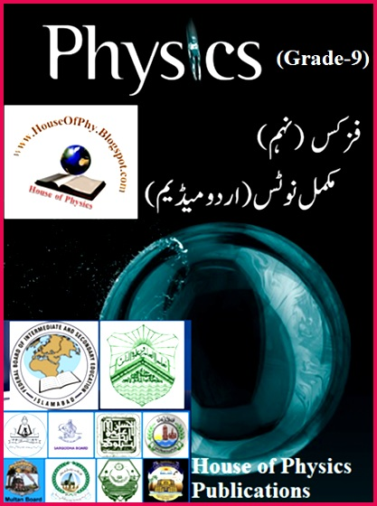 9th Class Physics Notes URDU MEDIUM Solved Question Answers & Numerical Problems