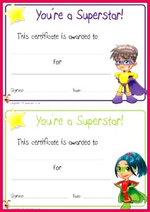 FREE printable superhero certificates for your super kids Free Printable Certificates Certificate Templates