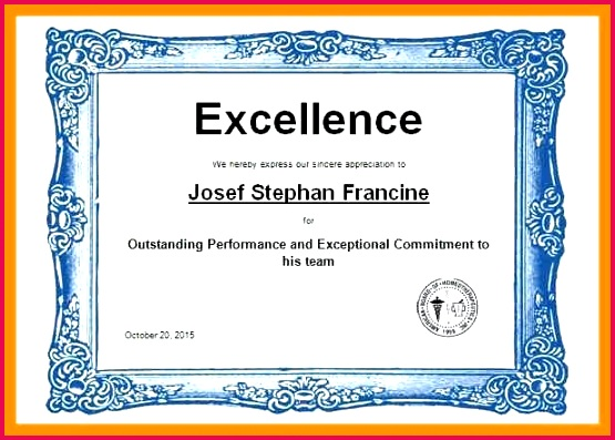 certificate template with golden color excellence award wording image large of academic achievement employee appreciation
