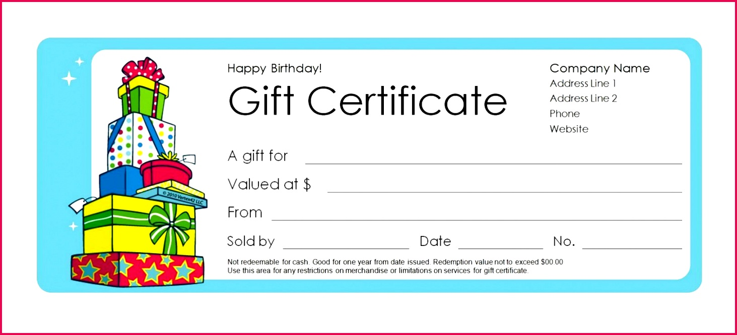 blank birthday t certificate template microsoft word unique 173 within