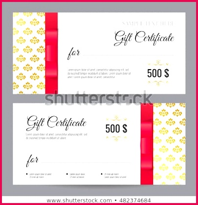 stock vector t voucher template with floral pattern and red bow ribbons design usable for coupon