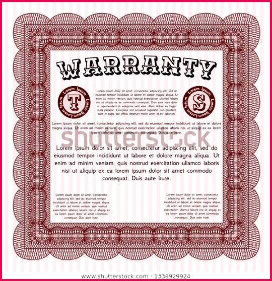 red retro warranty certificate template 600w