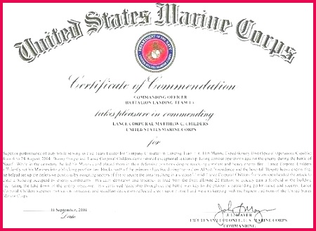 certificate of mendation template best design ideas army medal