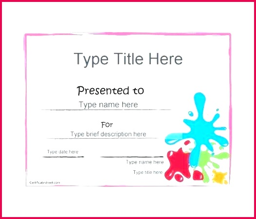 birthday t certificate templates for certificates free hatch