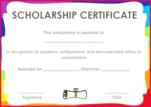 Memorial Scholarship Certificate Template Scholar Athlete Award